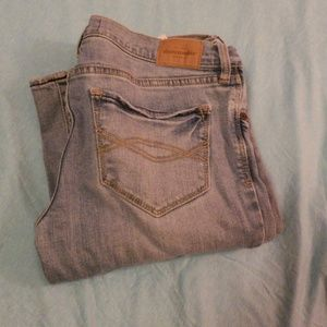 Size 16 Abercrombie and Fitch kids light blue jean